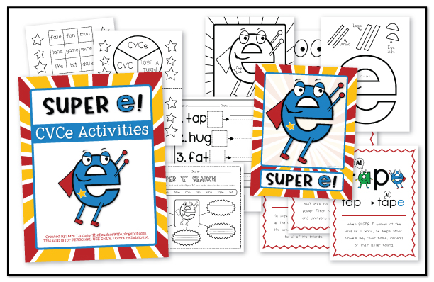 the teacher wife Have you met SUPER E CVCe Words – Silent E Worksheet
