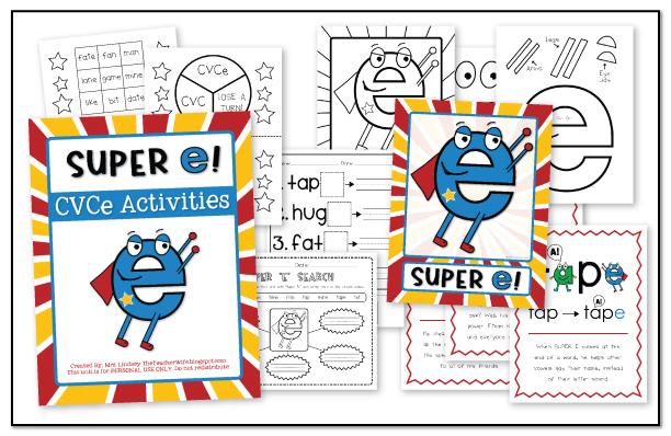 the teacher wife: Have you met SUPER E??? {CVCe Words}