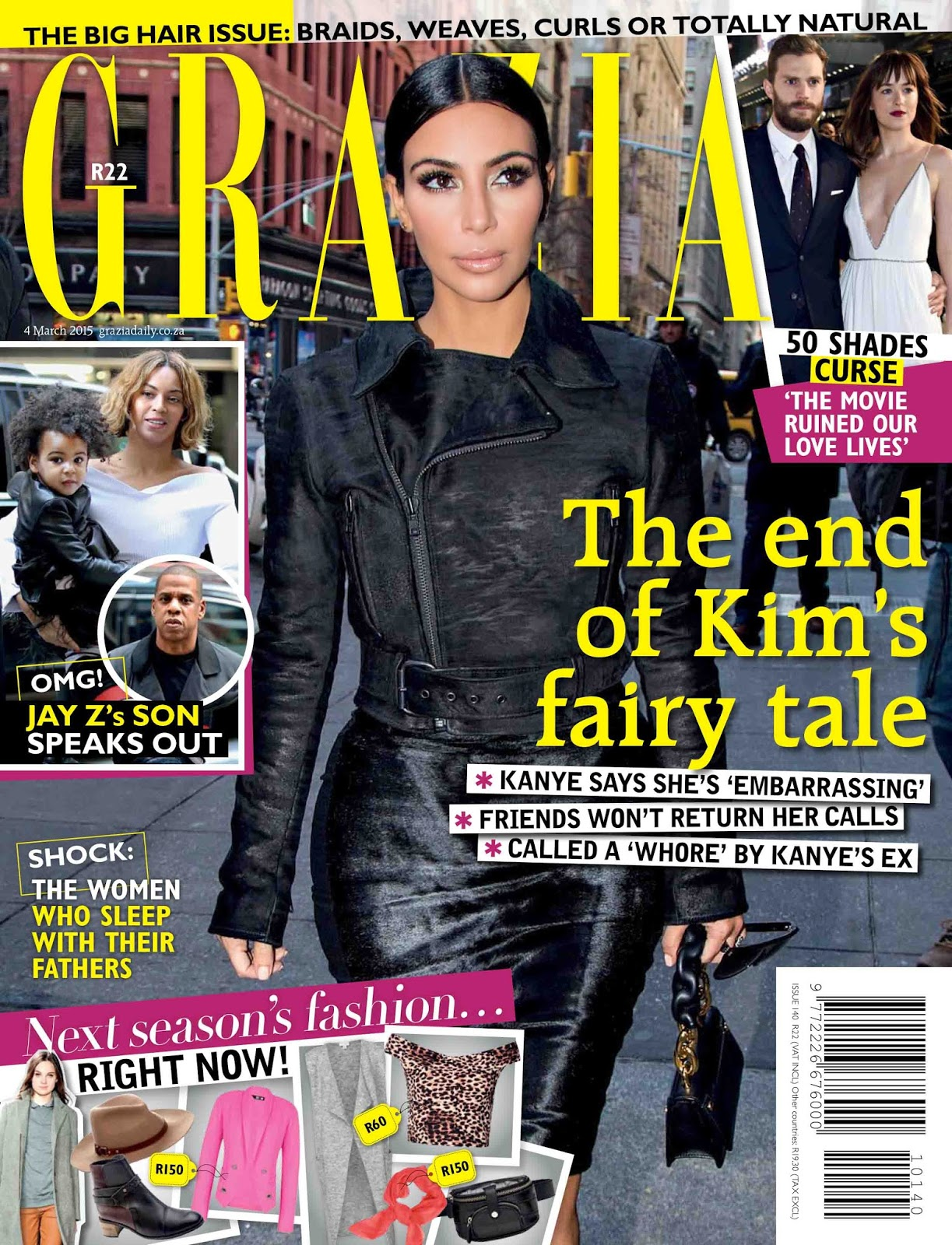 Model, Actress: Kim Kardashian - Grazia South Africa March 2015