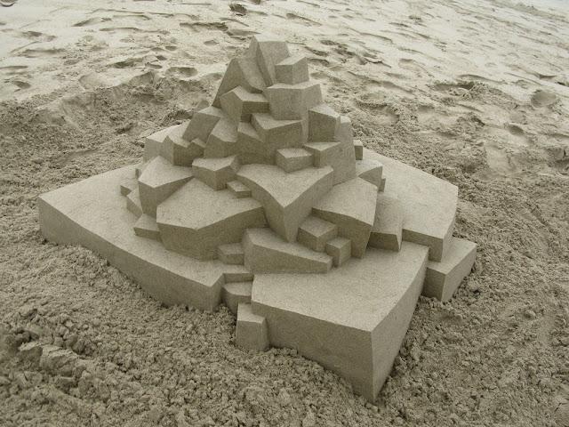 Geometric Sand Sculptures by Calvin Seibert