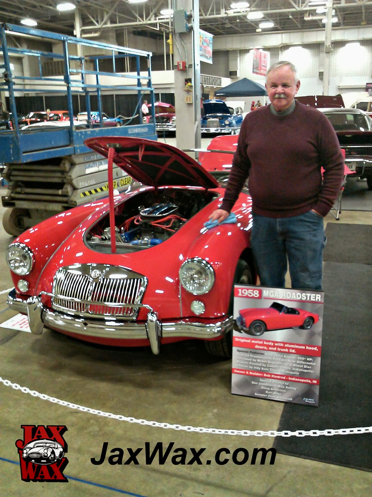 1958 MGA Roadster Indianapolis World of Wheels Jax Wax Customer