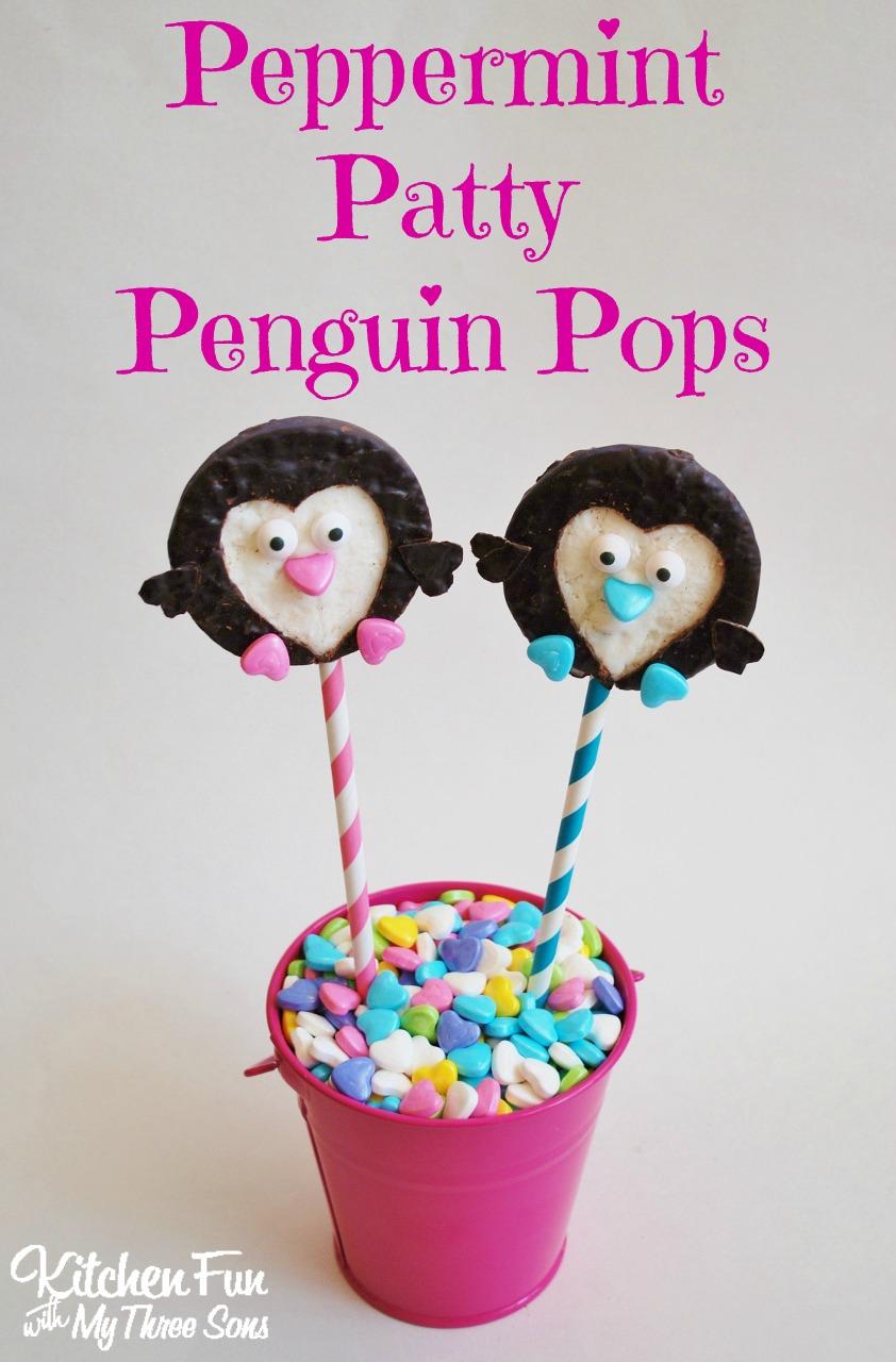 Valentine Peppermint Penguin Pops