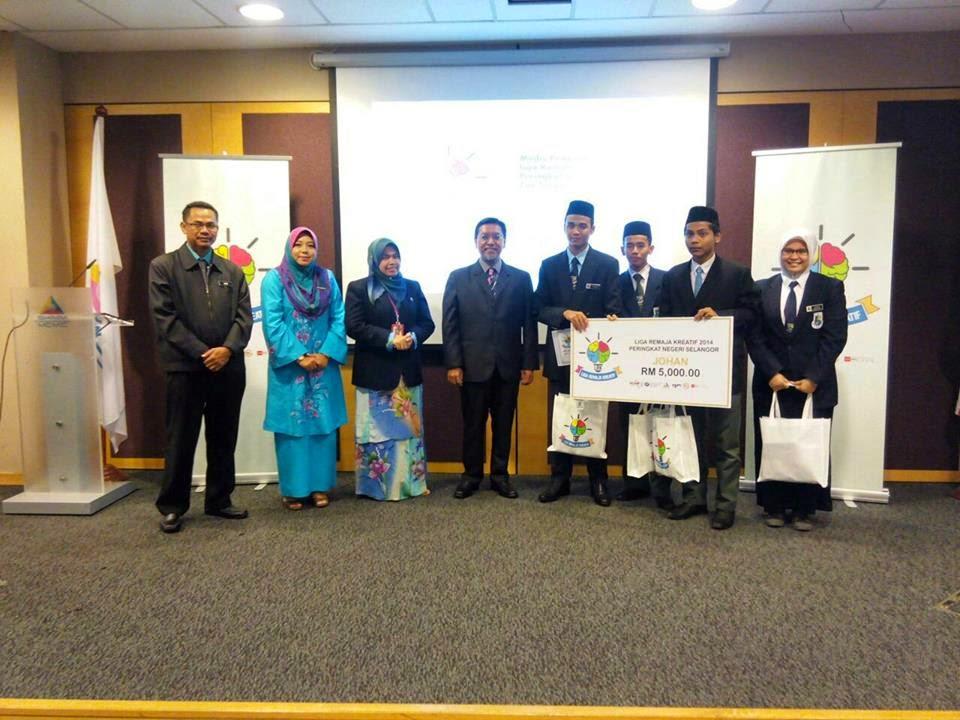 Keputusan Liga Remaja Kreatif 2014 (Zon Tengah)