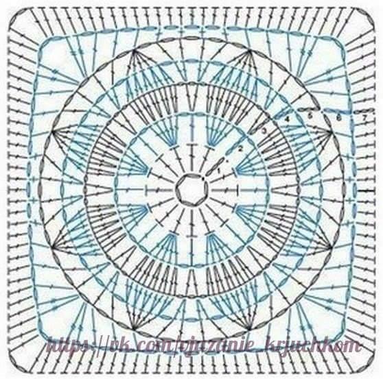 Granny square uncinetto schemi uncinetto 4 piastrelle - Piastrelle all uncinetto schemi ...