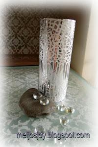 Faux Mirror Mosaic Vase