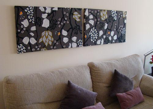 Cuadros textiles Plantillas decorativas ikea