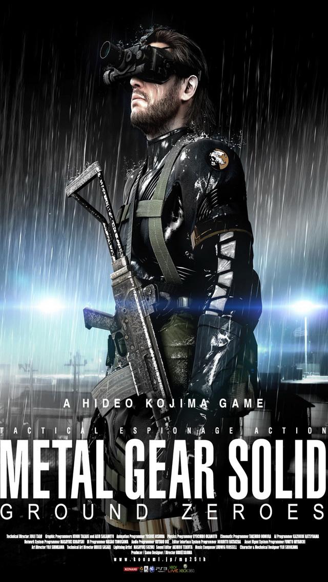 Metal Gear Solid: Ground Zeroes iPhone 5 Wallpaper ...