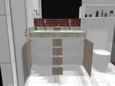 móveis planejados para banheiro e lavabo