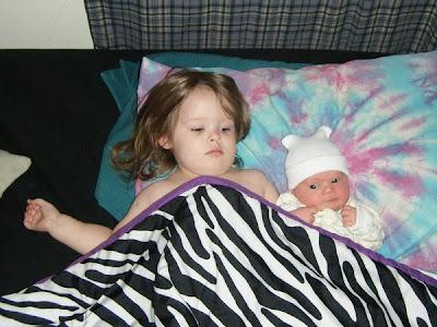 Sasha & Spencer in Family Bed