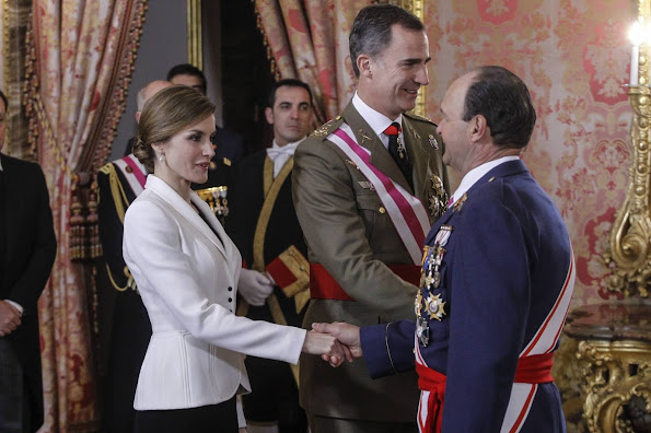 Queen Letizia of Spain attends the Pascua Militar ceremony at the Royal Palace