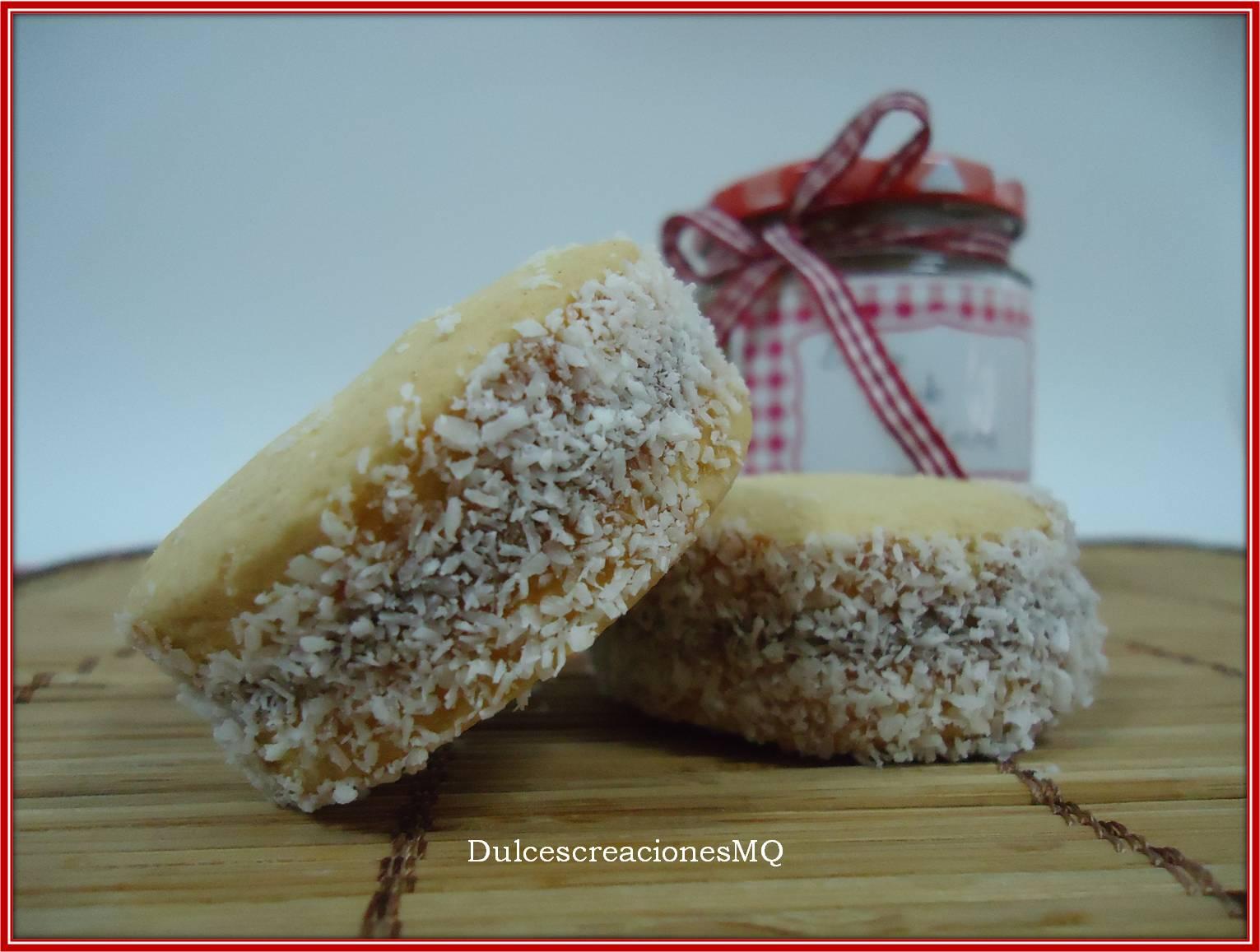 Alfajores de Dulce de Leche Coco Maizena Fécula de maíz Postres Casero Argentino Cumpleaños