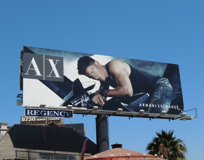 Arthur Sales AX biker model billboard