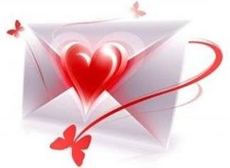 Belle lettre d'amour magnifique