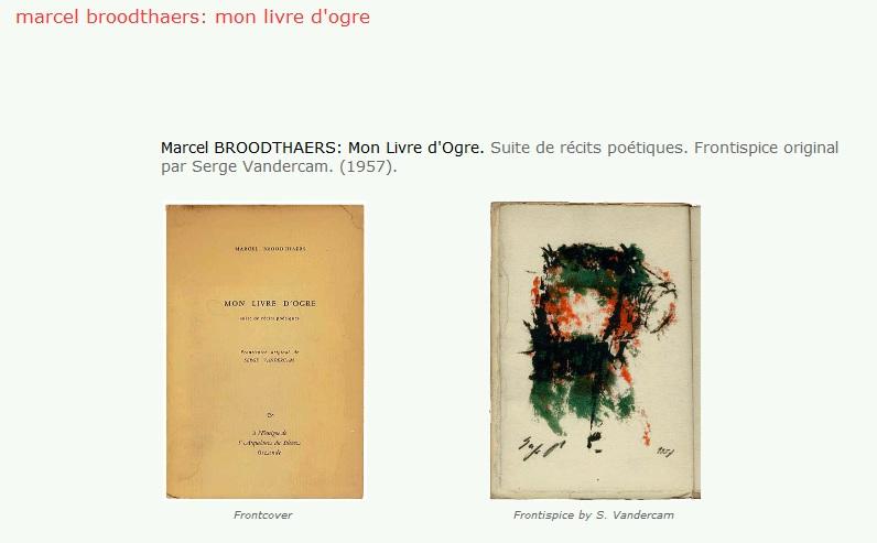 Marcel Broodthaers Mallarme Marcel Broodthaers Mon Livre
