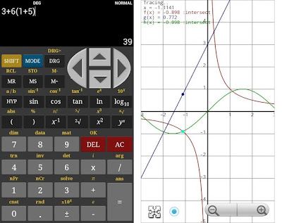screenshot of HF Scientific Calculator on my phone