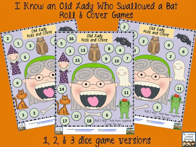 Old Lady Who Swallowed a Bat Roll and Cover FREE