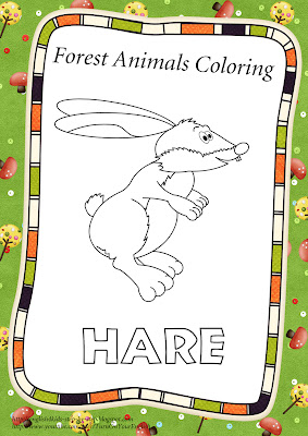 hare coloring