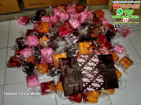 Tempat Tissue Batik Kain Palu
