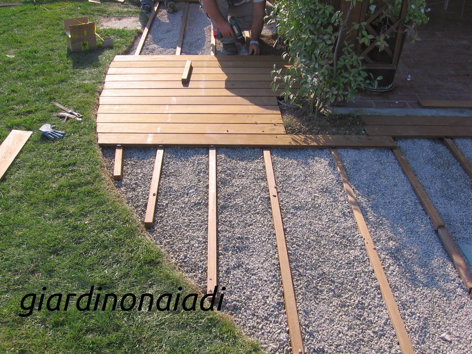 Il giardino delle naiadi due passi in giardino prima parte for Costruire un garage su un terreno in pendenza