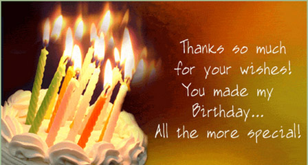 Thank You All For the Wonderful Birthday Wishes Welcome to – How to Say Thank You for Birthday Greetings