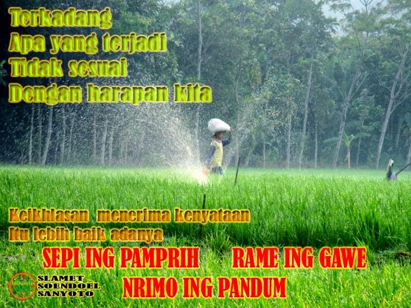 Sepi Ing Pamprih Rame Ing Gawe Nrimo Ing Pandum