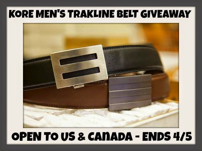Enter the Kore Men's Trakline Belt Giveaway. Ends 4/5
