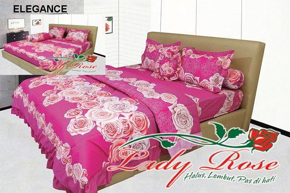 jual sprei lady rose murah, grosir sprei lady rose di surabaya