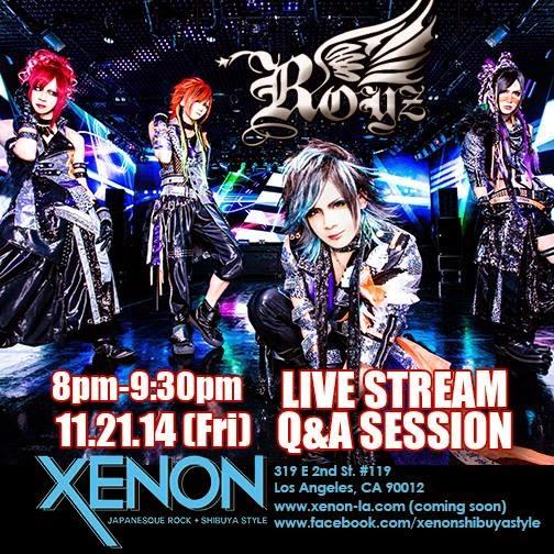 EVENT:  Royz Livestream Q&A @ XENON