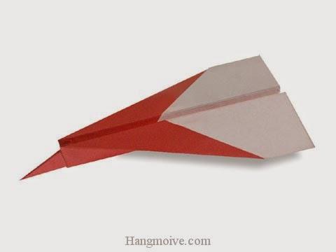 Cách gấp, xếp máy bay Mig-35 bằng giấy origami phi xa, cao, bay lâu mãi không rơi - Video hướng dẫn xếp hình máy bay - How to fold a paper airplane 5