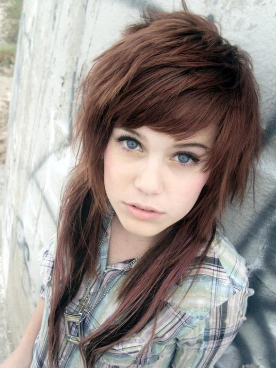 Hairstyle Emo Girl (Brown) Emo Screamo