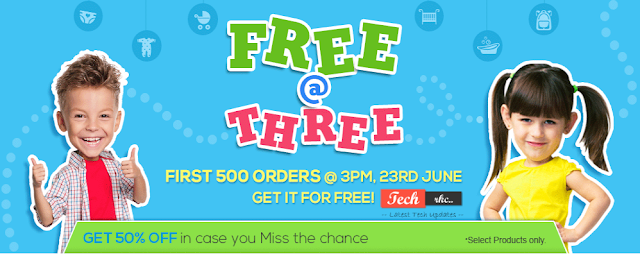 First Cry Products Absolutely Free @ 3:00 PM June 2015