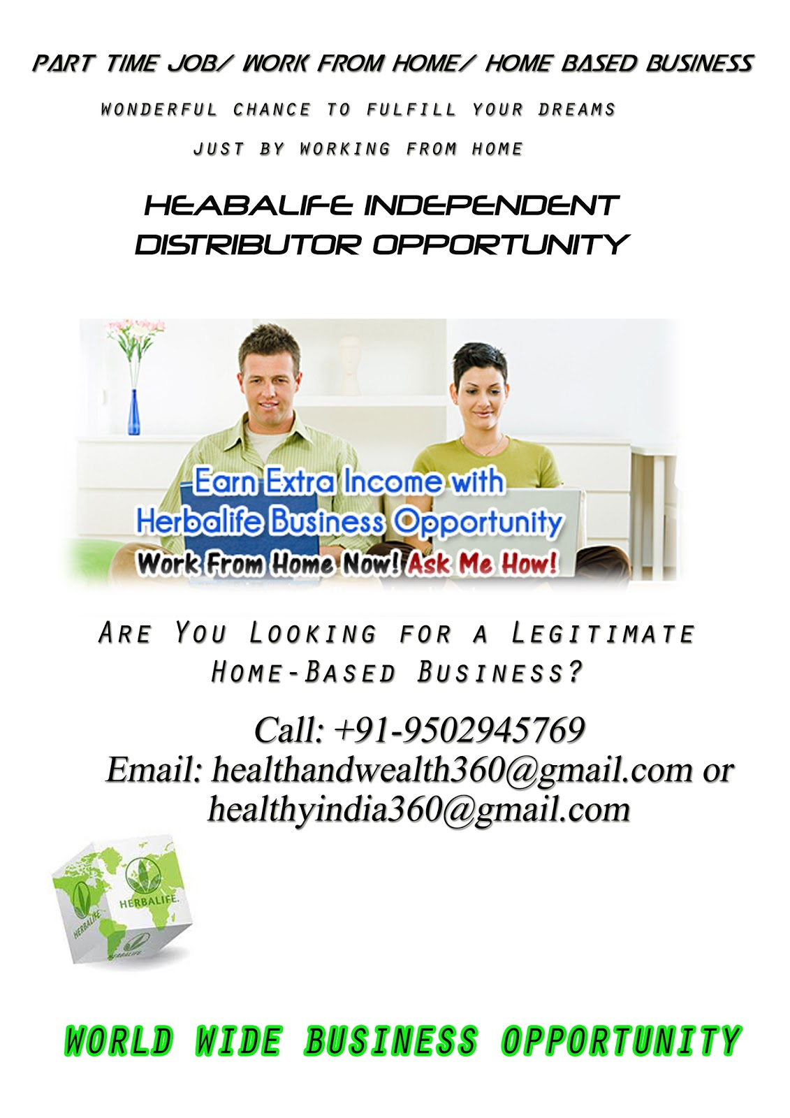 Herbalife Business Opportunity: Herbalife Flyer