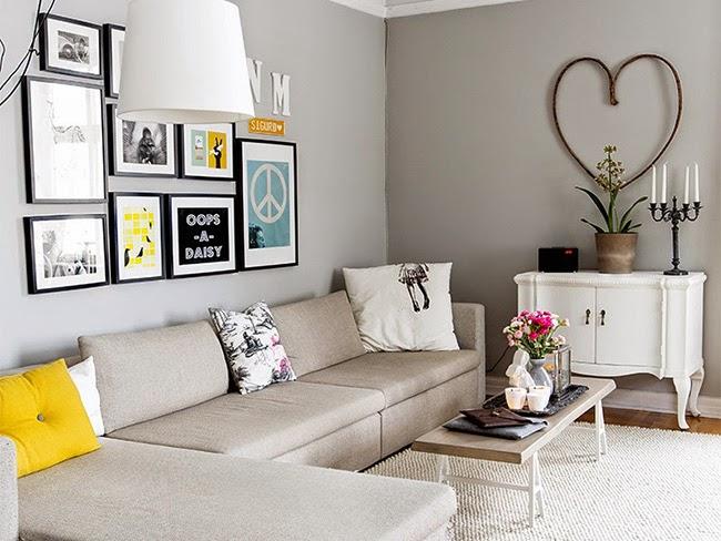 Un piso decorado en gris que har que te olvides del - Piso blanco y gris ...