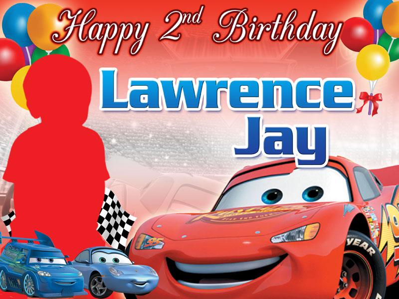 The Cars Birthday layout | CustomizePrintShop