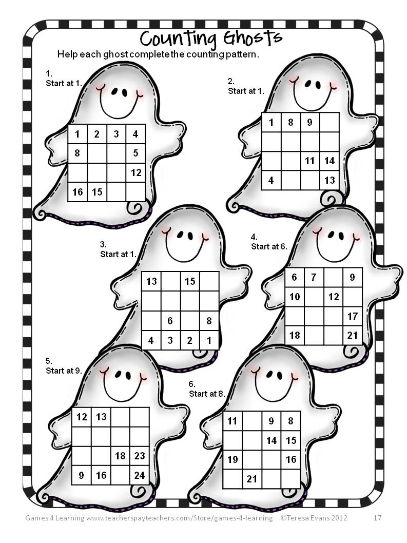 Fun Games 4 Learning Halloween Math Fun – Math Puzzle Games Worksheets