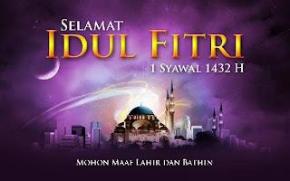 Kartu Ucapan Selamat Idul Fitri 1432H
