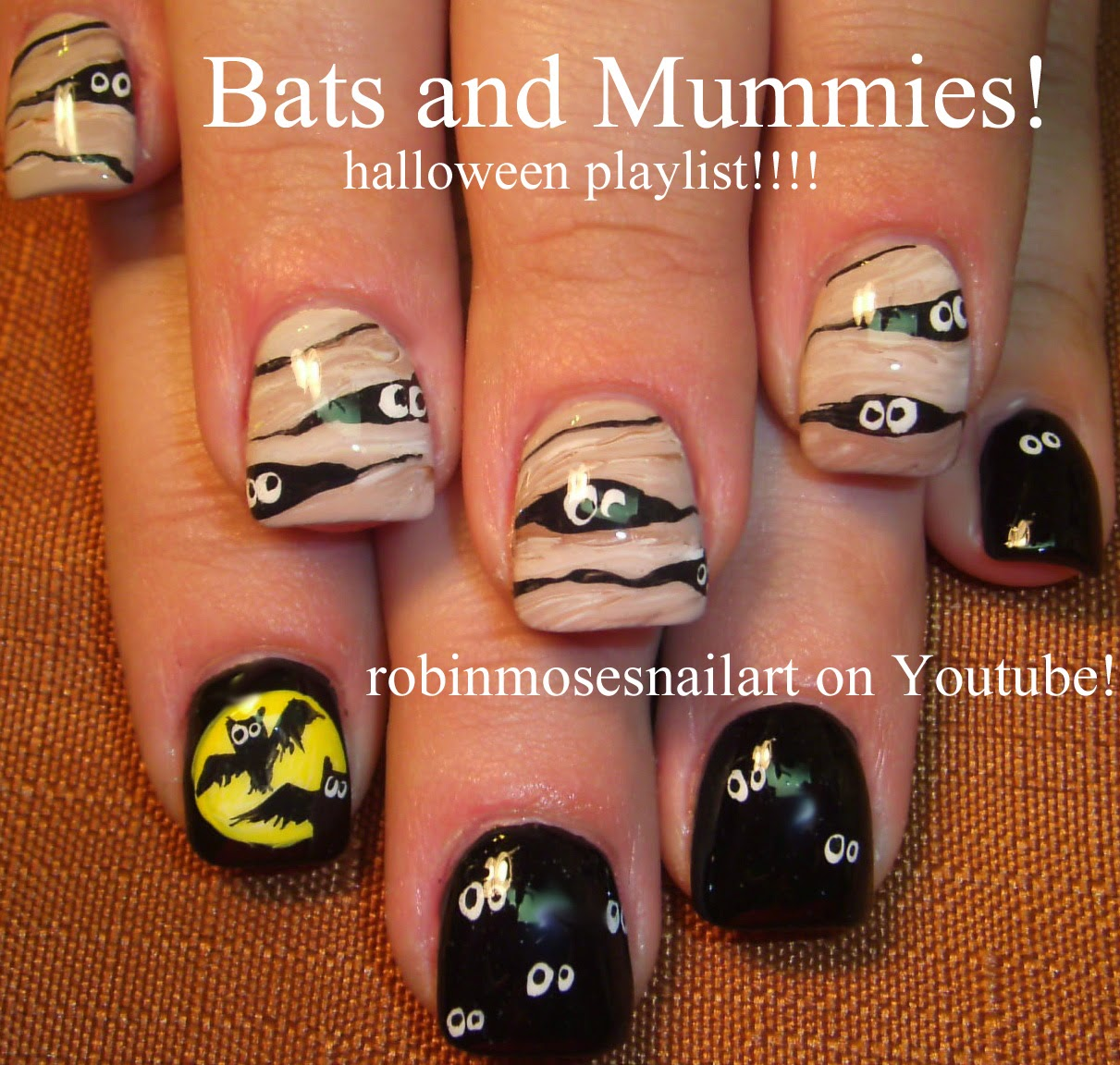 """Cute Easy Fall Nail Designs: Robin Moses Nail Art: """"owl Nails"""" """"halloween Nails"""" """"cute"""