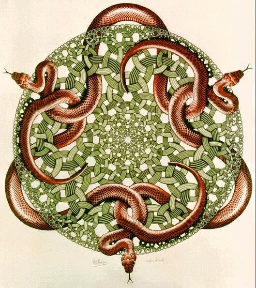 Snakes, M.C. Escher (1969)