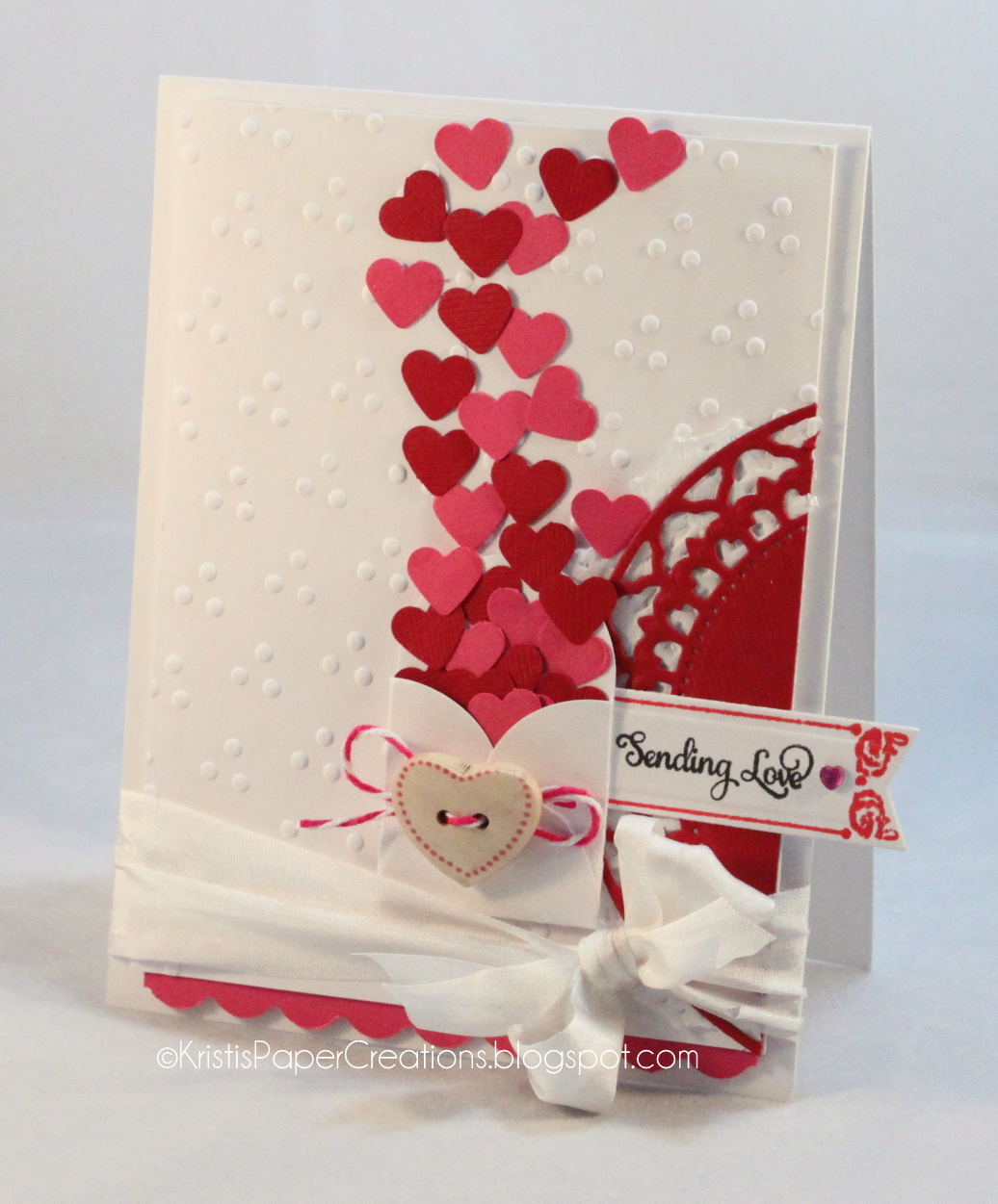 Kristi 39 s paper creations sending love valentine for What to put on a valentines card