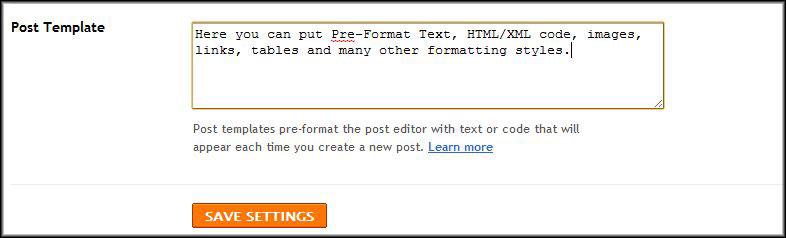 How To Pre-Format Blog Posts Using Blogger | Web Templates