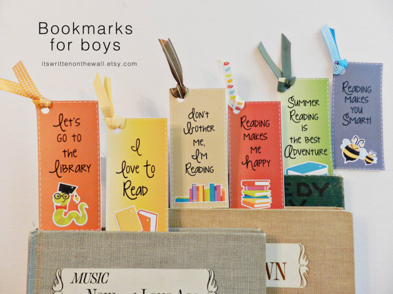 Encourage Summer Reading for Boys with Bookmarks
