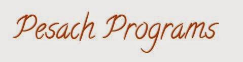 Pesach Programs