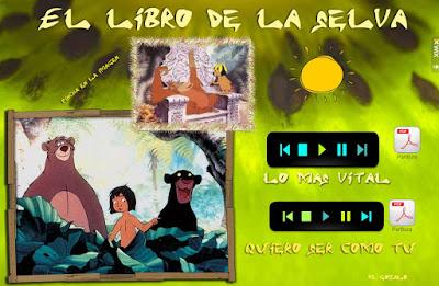 """Partituras Wix - """"El libro de la selva"""""""