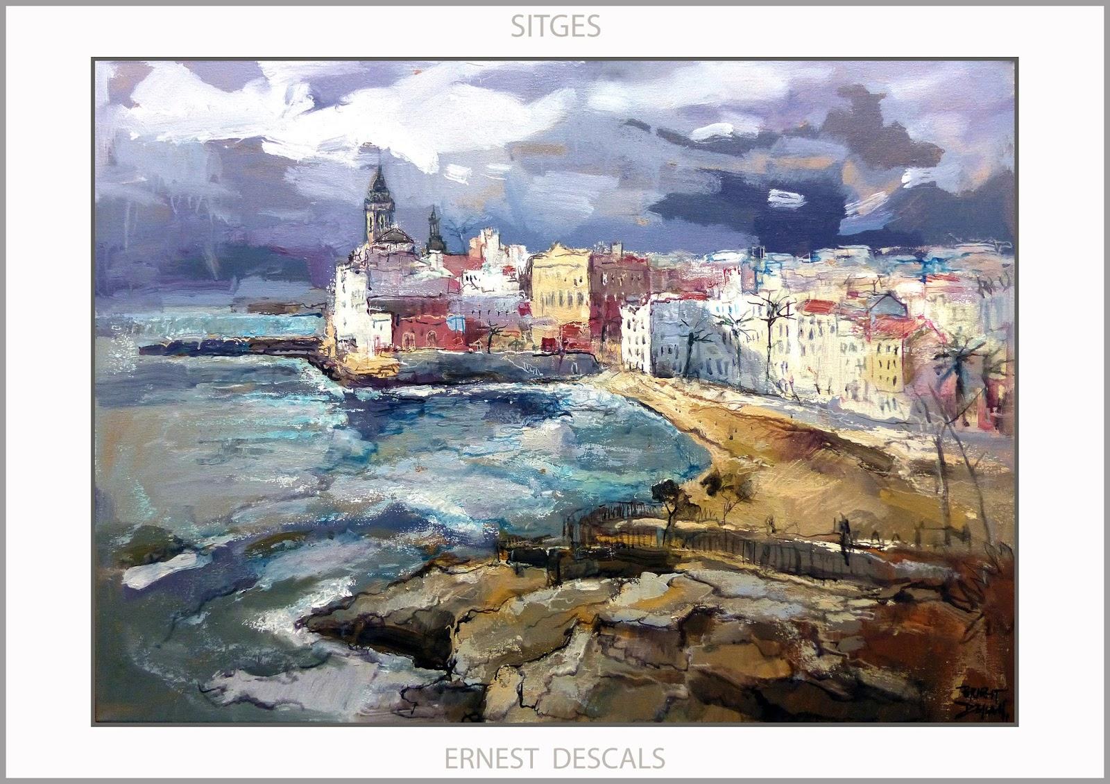Ernest descals artista pintor sitges pintura paisatges catalunya marinas alejandro magno - Pintores de barcelona ...