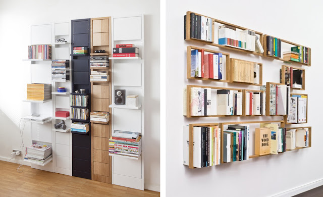 Estanter as de madera espacios en madera - Estanterias modulares de madera ...