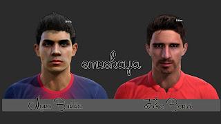 Marc Bartra & Fabio Borini Face PES 2013 by EmreKaya