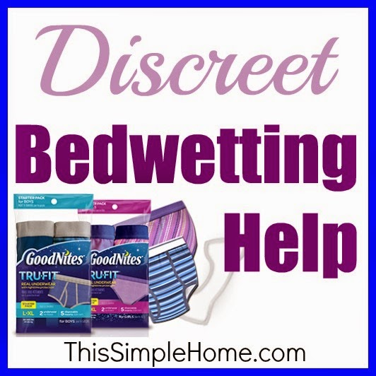 Bedwetting help for children with real fabric underwear.