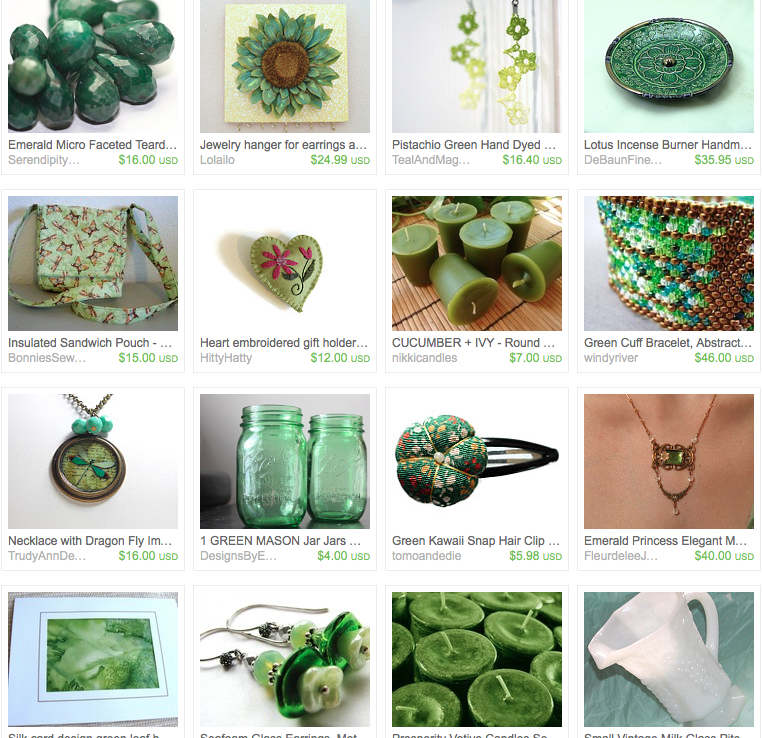 Etsy Treasury in Emerald Greens