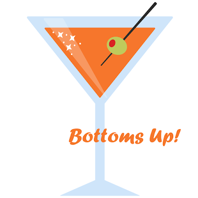 bottoms up fusography design for Sassy Glass Studio, fall 2015, fused glass art, one-of-a-kind fused glass art, fused glass, martini glass, orange, university of tennessee