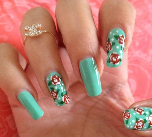 Pretty pretty nail art printemps roses - Nail art printemps ...